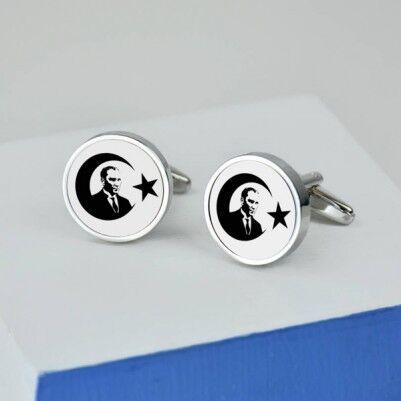 Atatürk Temalı Gömlek Kol Düğmeleri - Thumbnail