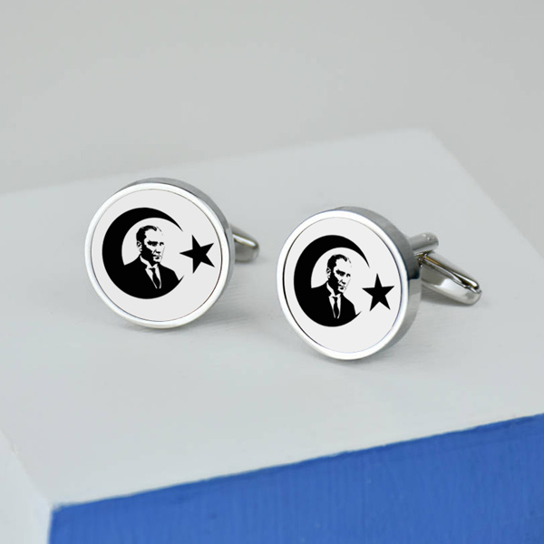 Atatürk Temalı Gömlek Kol Düğmeleri