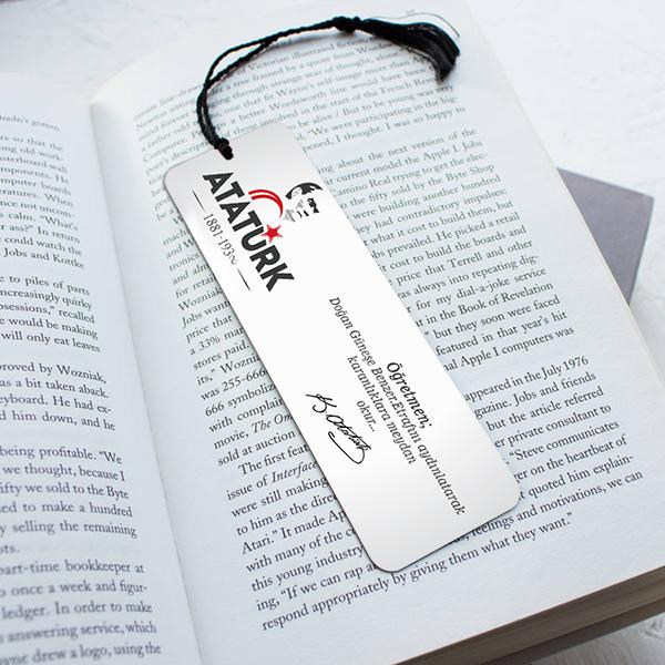 Atatürk Temalı Kitap Okuma Ayracı
