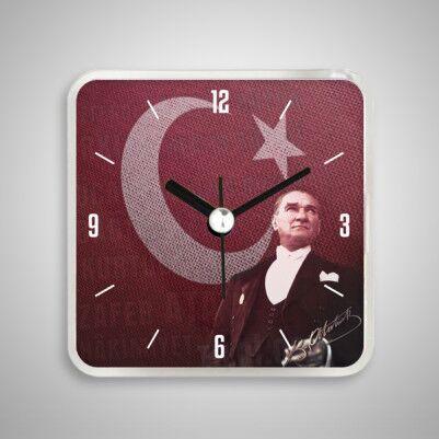 - Atatürk Temalı Saatli Buzdolabı Magneti
