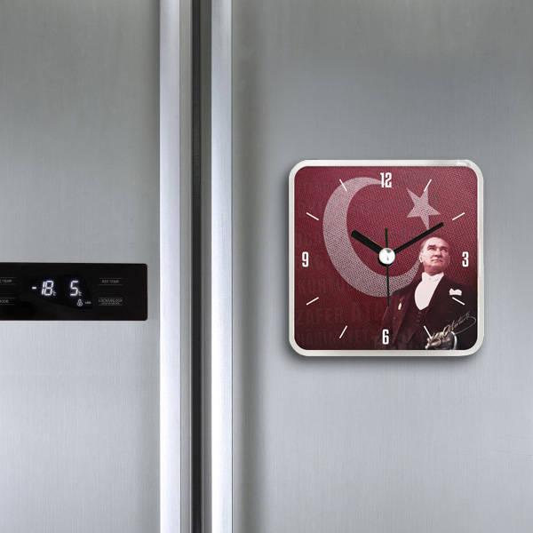 Atatürk Temalı Saatli Buzdolabı Magneti