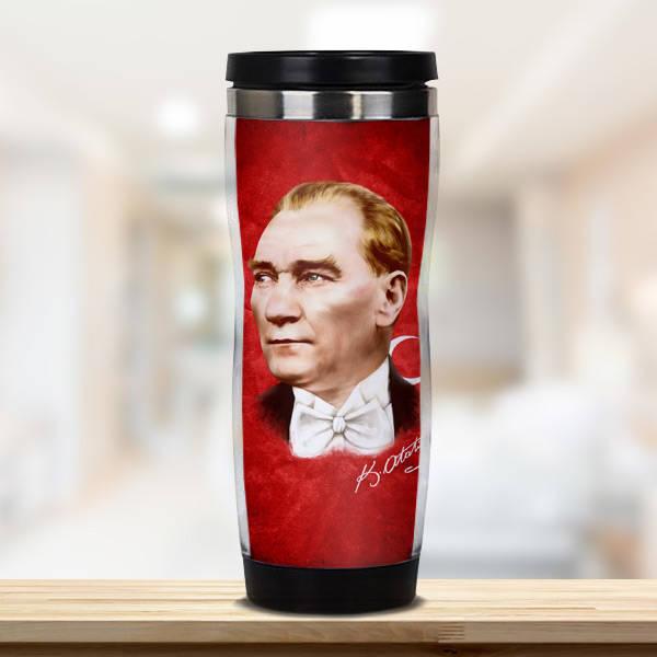 Atatürk Temalı Termos Bardak