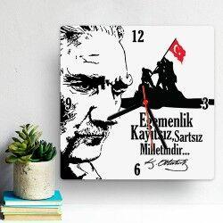 Atatürk ve Bağımsızlık Temalı Duvar Saati - Thumbnail