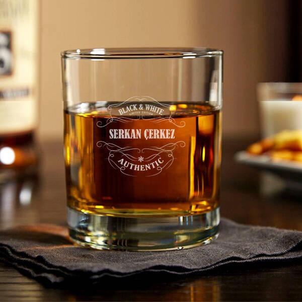 Authentic İsme Özel Viski Bardağı