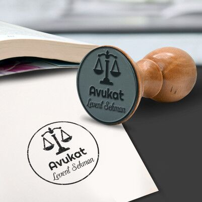 - Avukat İçin Ahşap Mühür Seti