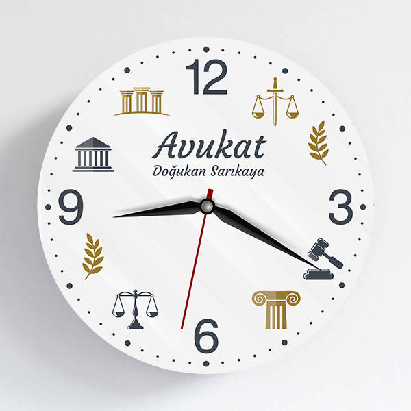 Avukata Hediye Duvar Saati