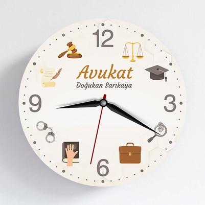 - Avukata Özel Tasarım Duvar Saati