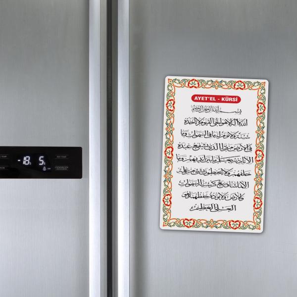 Ayetel Kürsi Duası Buzdolabı Magneti