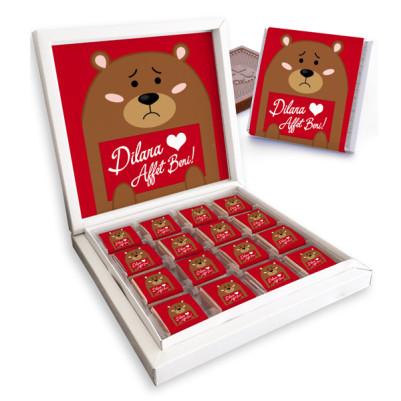 Ayıcık Etiketli Özür Dilerim Çikolatası - Thumbnail