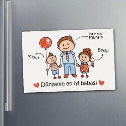 Baba Sevgisi Buzdolabı Magnet - Thumbnail