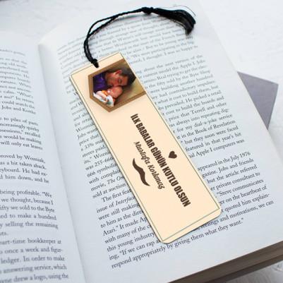 - Babalar Günü Temalı Kitap Okuma Ayracı