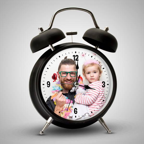 Babalara Özel Fotoğraflı Çalar Saat