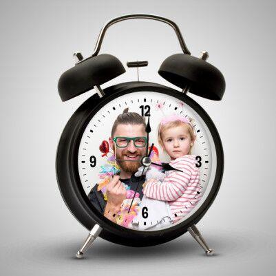 Babalara Özel Fotoğraflı Çalar Saat - Thumbnail
