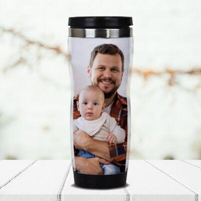- Babalara Özel Fotoğraflı Termos Bardak