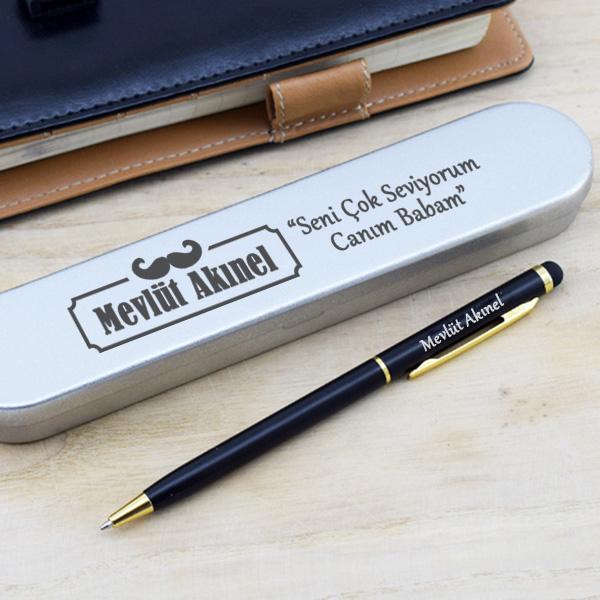 Babalara Özel Metal Kutuda Kalem