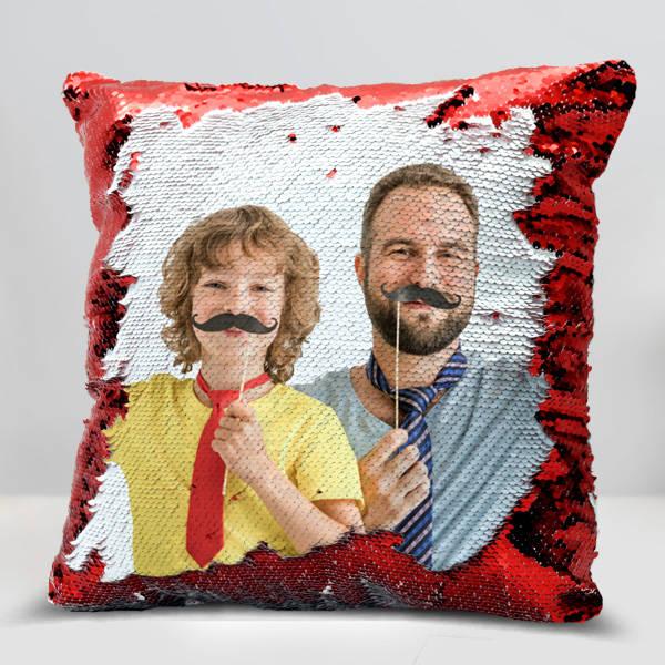 Babalara Özel Sihirli Yastık Kırmızı Pullu