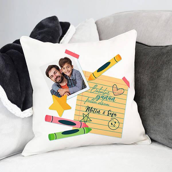 Babaların Bitanesi Fotoğraflı Yastık