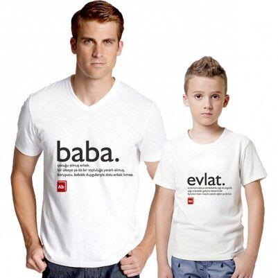 - Babasının Bitanesi İkili Tişört