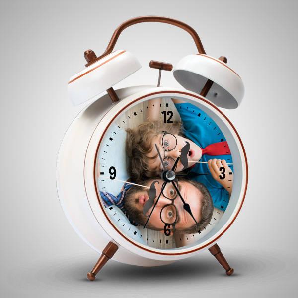 Babaya Hediye Fotoğraflı Alarm Saat