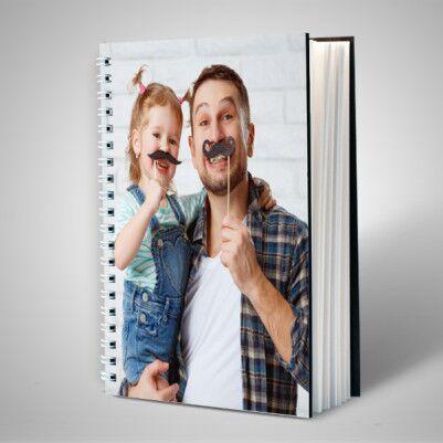 Babaya Hediye Fotoğraflı Defter - Thumbnail