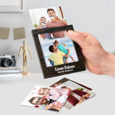 Babaya Hediye Polaroid Fotoğraf Albümü - Thumbnail