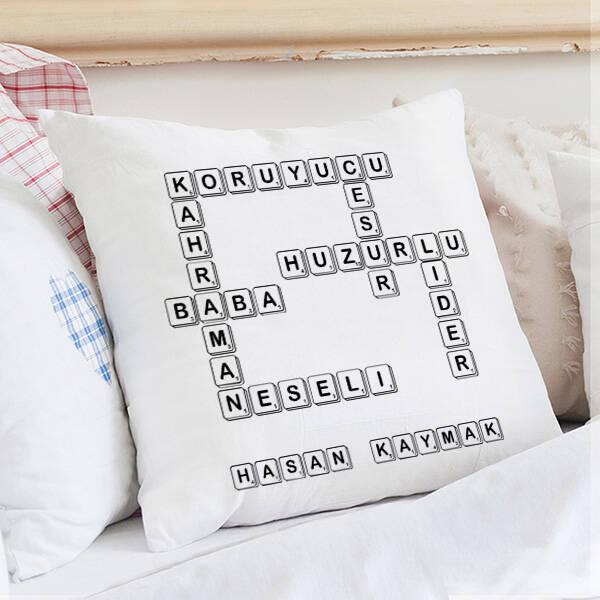 Babaya Hediye Scrabble Yastık
