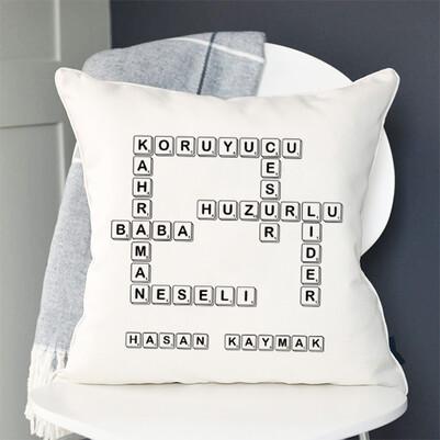 Babaya Hediye Scrabble Yastık - Thumbnail