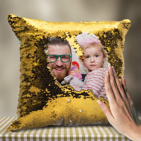 Babaya Hediye Sihirli Yastık Gold