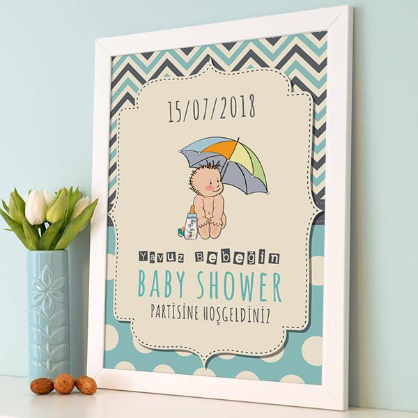 Baby Shower Partisine Hoş Geldiniz Posteri