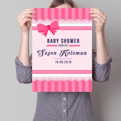 Baby Shower Posteri Fiyonk Temalı - Thumbnail