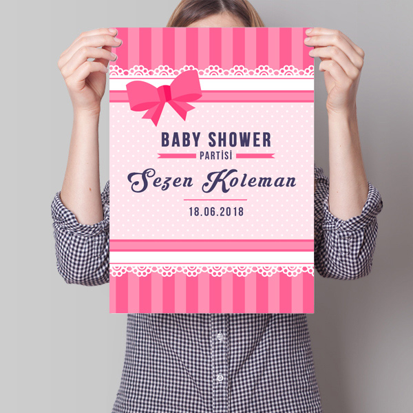 Baby Shower Posteri Fiyonk Temalı