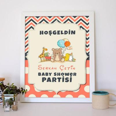 Baby Shower Posteri Oyuncak Temalı - Thumbnail