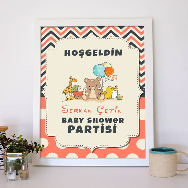 Baby Shower Posteri Oyuncak Temalı