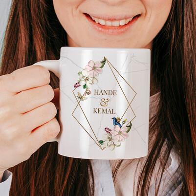 Baharımsın Sevgiliye Hediye Kupa Bardak - Thumbnail