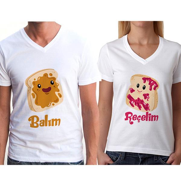 Balım Reçelim Çift Tişörtleri