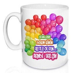 - Balon Desenli Doğum Günü Kupa Bardak