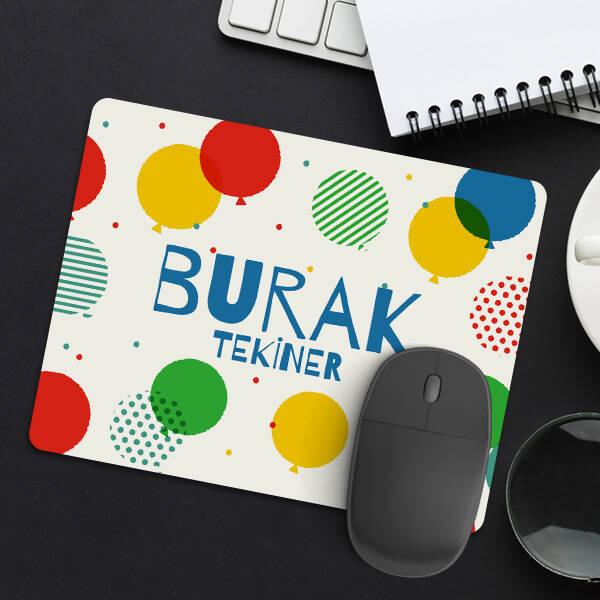 Balon Desenli İsme Özel Mousepad