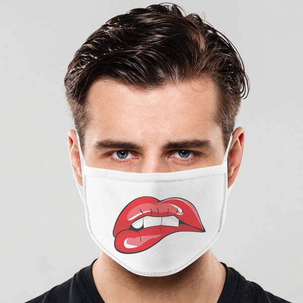 Bana Ne Dudağı Tasarım Yıkanabilir Maske