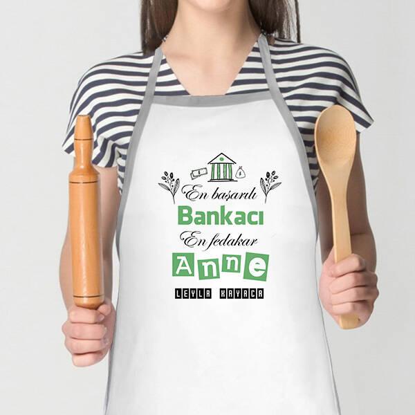 Bankacı Annelere Özel Mutfak Önlüğü