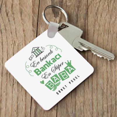 - Bankacı Babalara Özel Anahtarlık