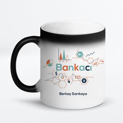 Bankacıya Hediye İsimli Kupa Bardak - Thumbnail