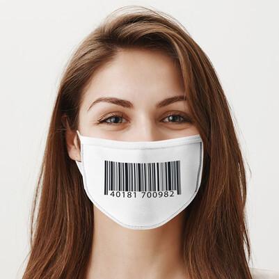 Barkod Tasarımlı Yıkanabilir Ağız Maskesi - Thumbnail