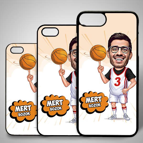 Basketbol Oyuncusu Karikatürlü Iphone Kapak