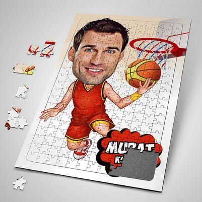 - Basketbol Oyuncusu Karikatürlü Puzzle