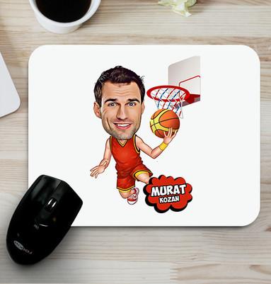 - Basketbol Sever Karikatürlü Mouse Pad