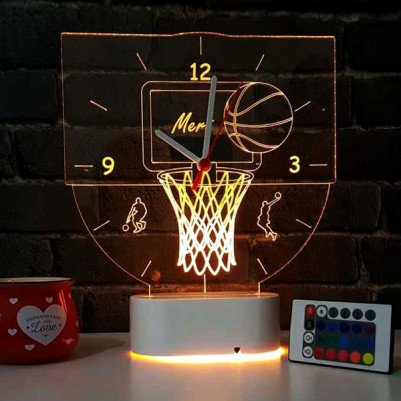 Basketbol Temalı 3d Led Lamba - Thumbnail