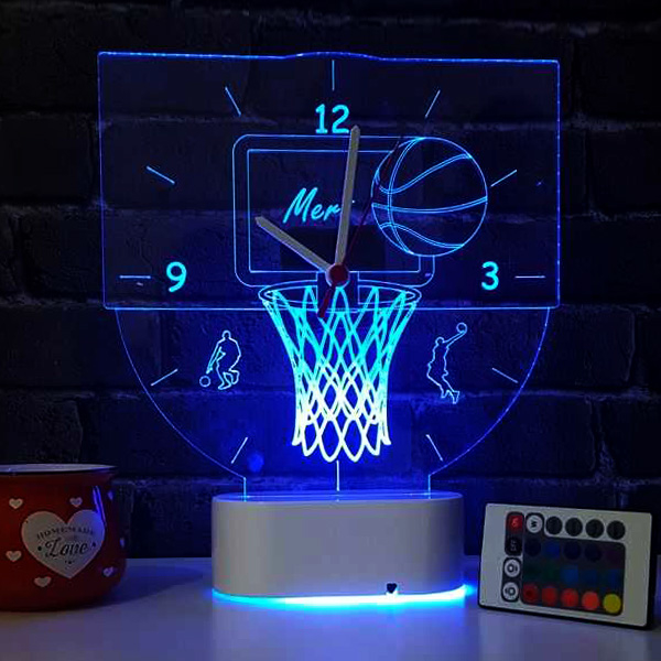 Basketbol Temalı 3d Led Lamba