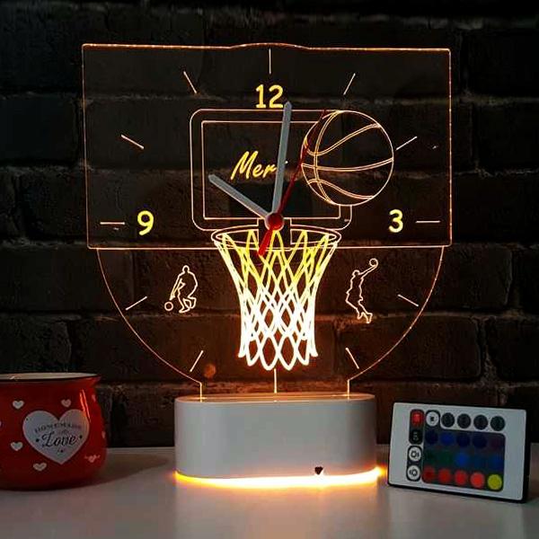 Basketbol Temalı 3d Led Lamba