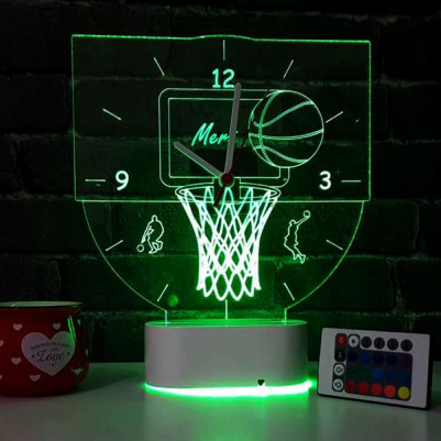 Basketbol Temalı 3d Led Lamba - Thumbnail