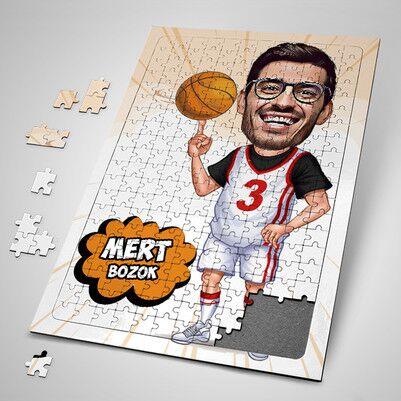 - Basketbolcu Karikatürlü 130 Parça Puzzle